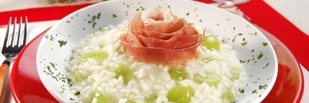 Risoto de uvas com Parma