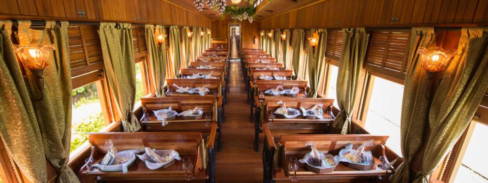 Degustação a bordo do trem