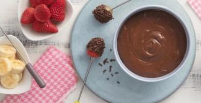 Uma doce e romântica fondue