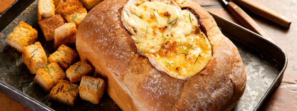 Pão recheado, pão de frigideira