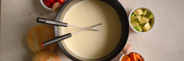 Fondue de queijos imperfeita